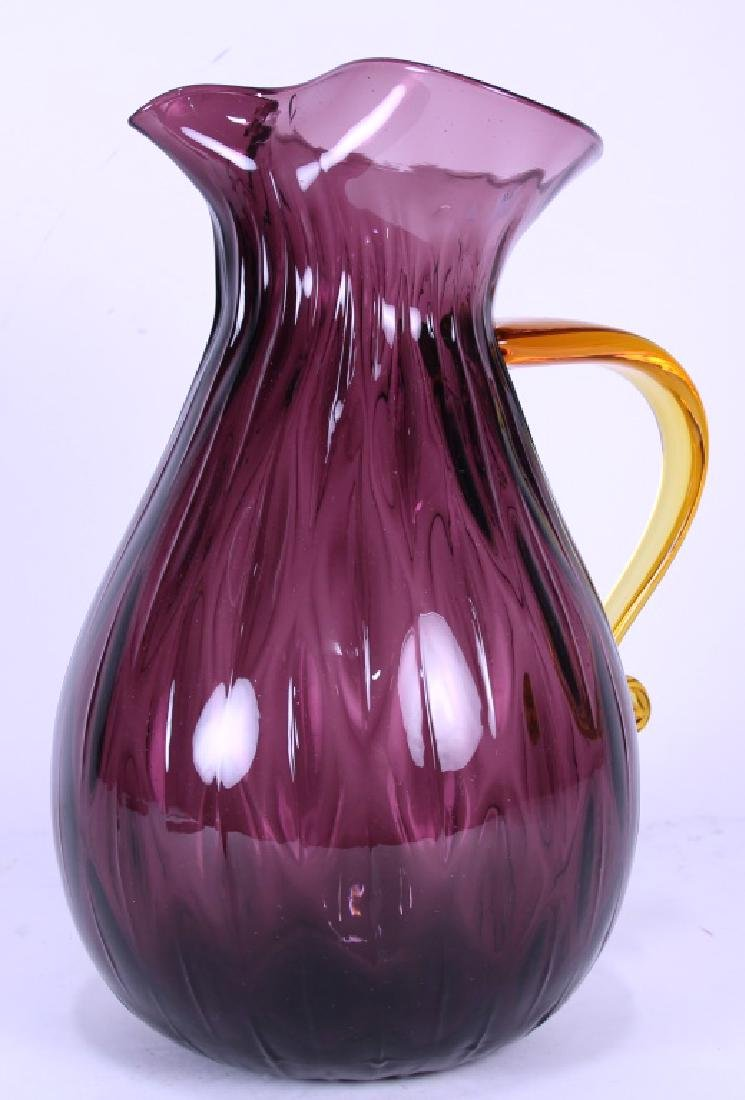 ART GLASS PITCHER/VASE