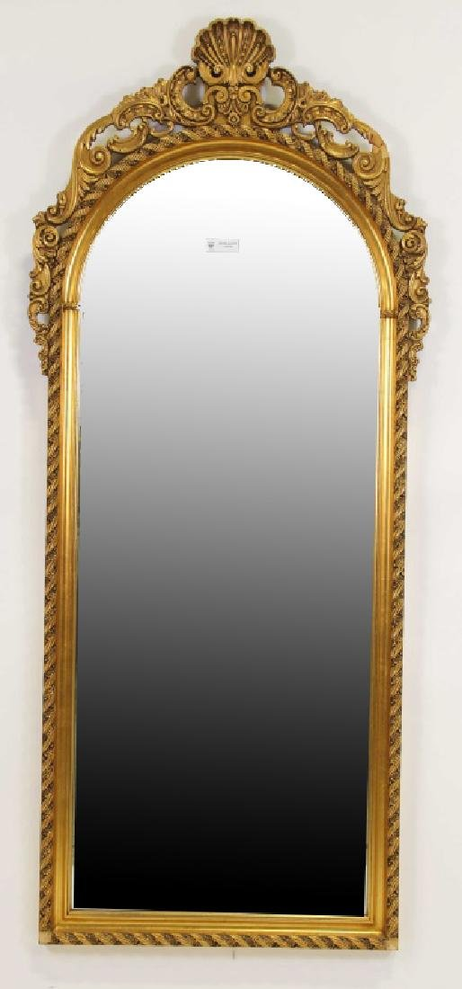 CARVED AND GILDED FRAMED MIRROR
