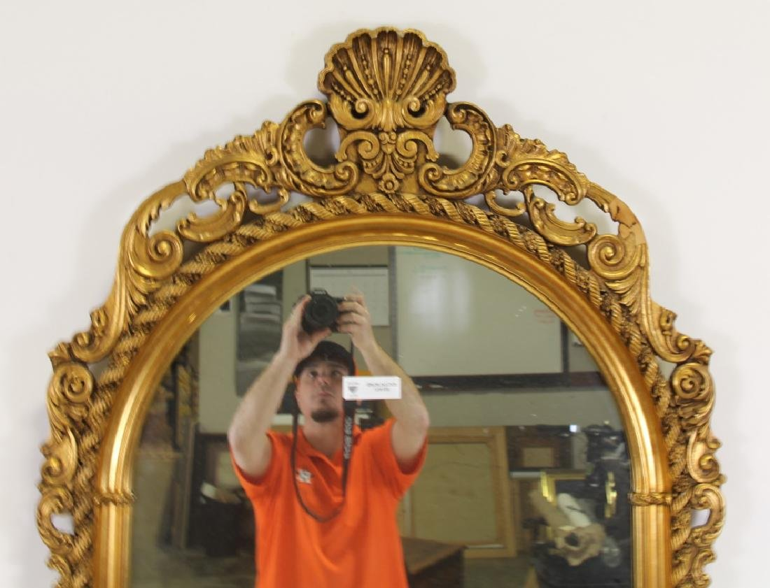 CARVED AND GILDED FRAMED MIRROR - 3