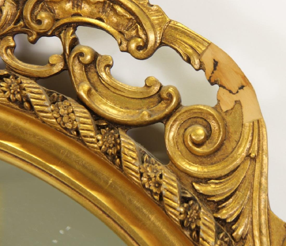 CARVED AND GILDED FRAMED MIRROR - 4