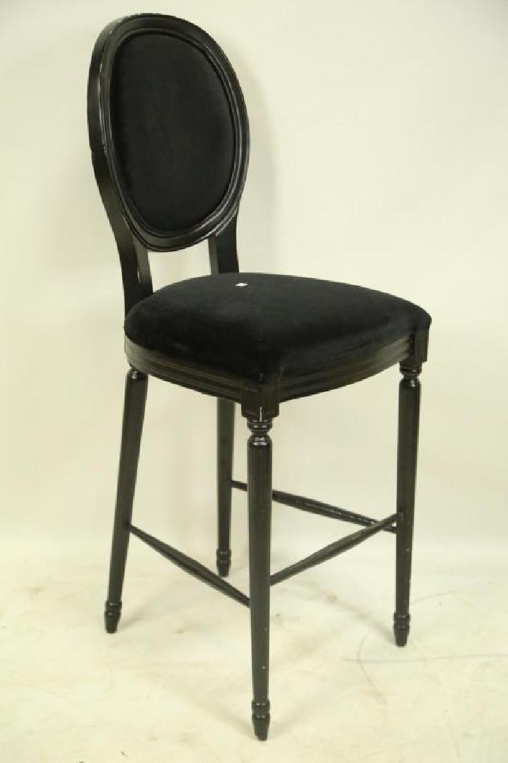 SET OF THREE BLACK BAR STOOLS - 2