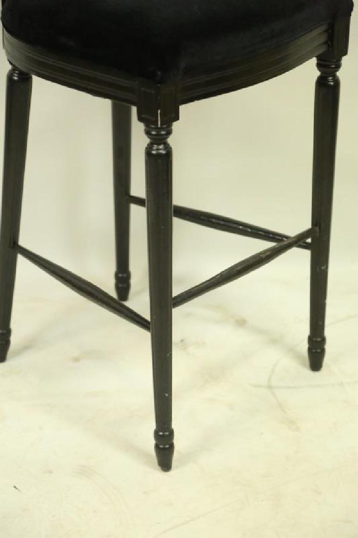 SET OF THREE BLACK BAR STOOLS - 3
