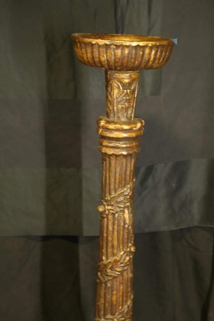 GOLD CANDLE STAND - 2