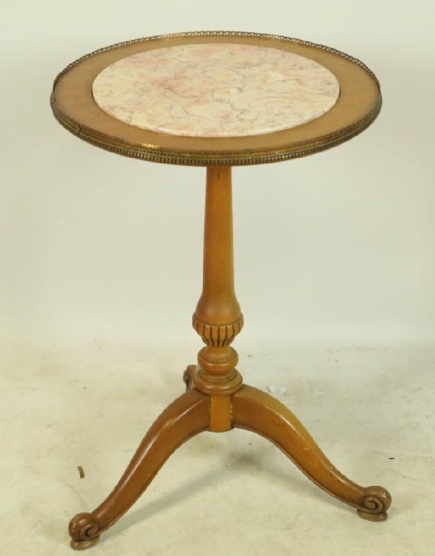 PETITE MARBLE TOP SIDE TABLE