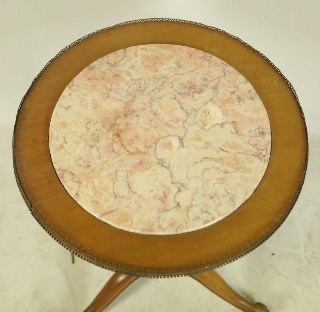 PETITE MARBLE TOP SIDE TABLE - 3