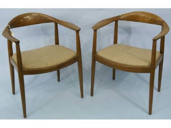 174: Set of 17 art deco armchairs with cushion,  uphols