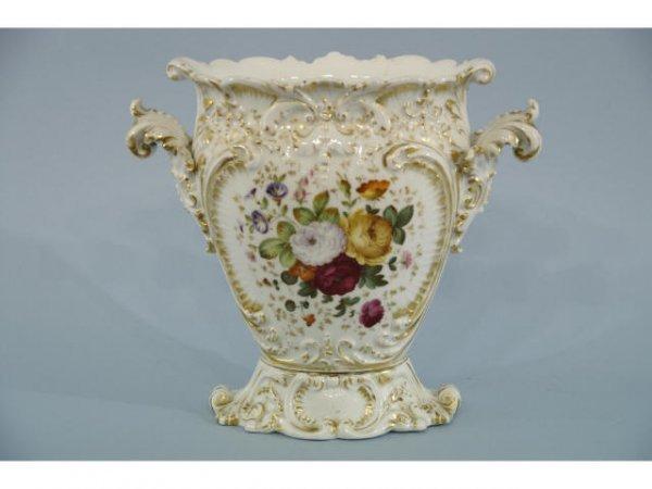 1015: Old Paris white porcelain vase