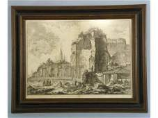 1061 Piranesi engraving of a city in ruins