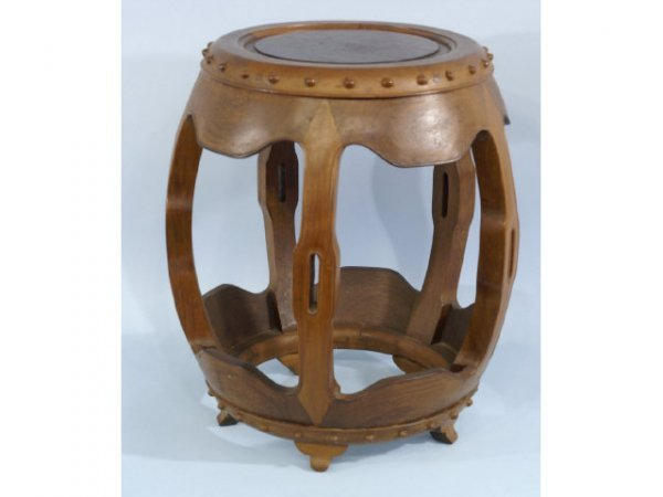 7: Chinese antique rosewood garden stool