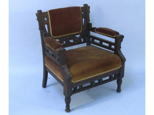 10: Eastlake Victorian armchair.