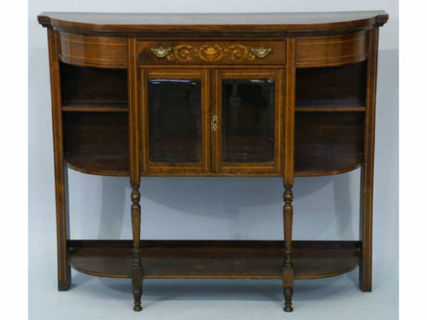 14: Edwardian mahogany sideboard with inlay.