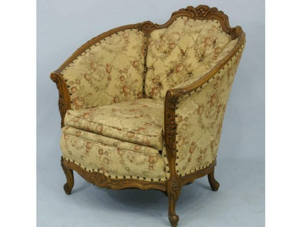 15: French Victorian armchair.