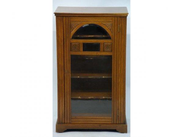 17: Victorian oak music cabinet