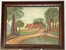 ENGLISH COUNTRY SCENE OIL PAINTING
