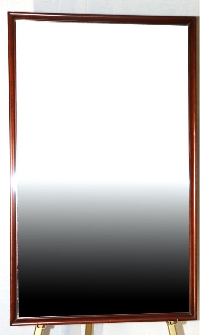HICKORY CO. MID-CENTURY MODERN BEVELED GLASS MIRRO