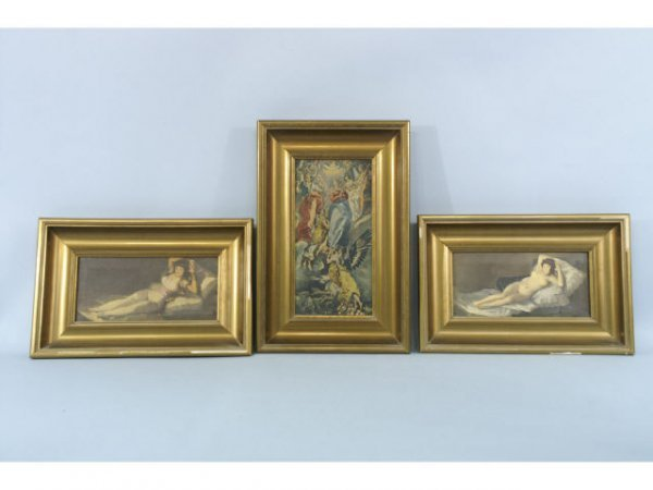 1011: A group of five reproductions on canvas.