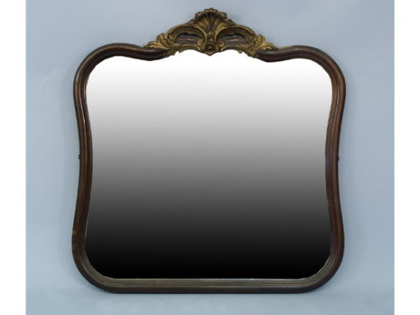 1015: Beveled mahogany mirror