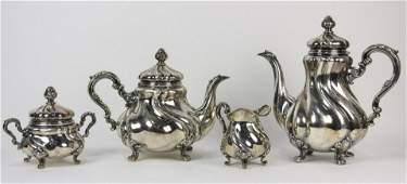FOUR PIECE STERLING SILVER TEA SET