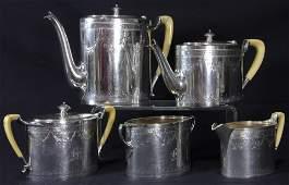 19th CENTURY STERLING SILVER COFFEETEA SET