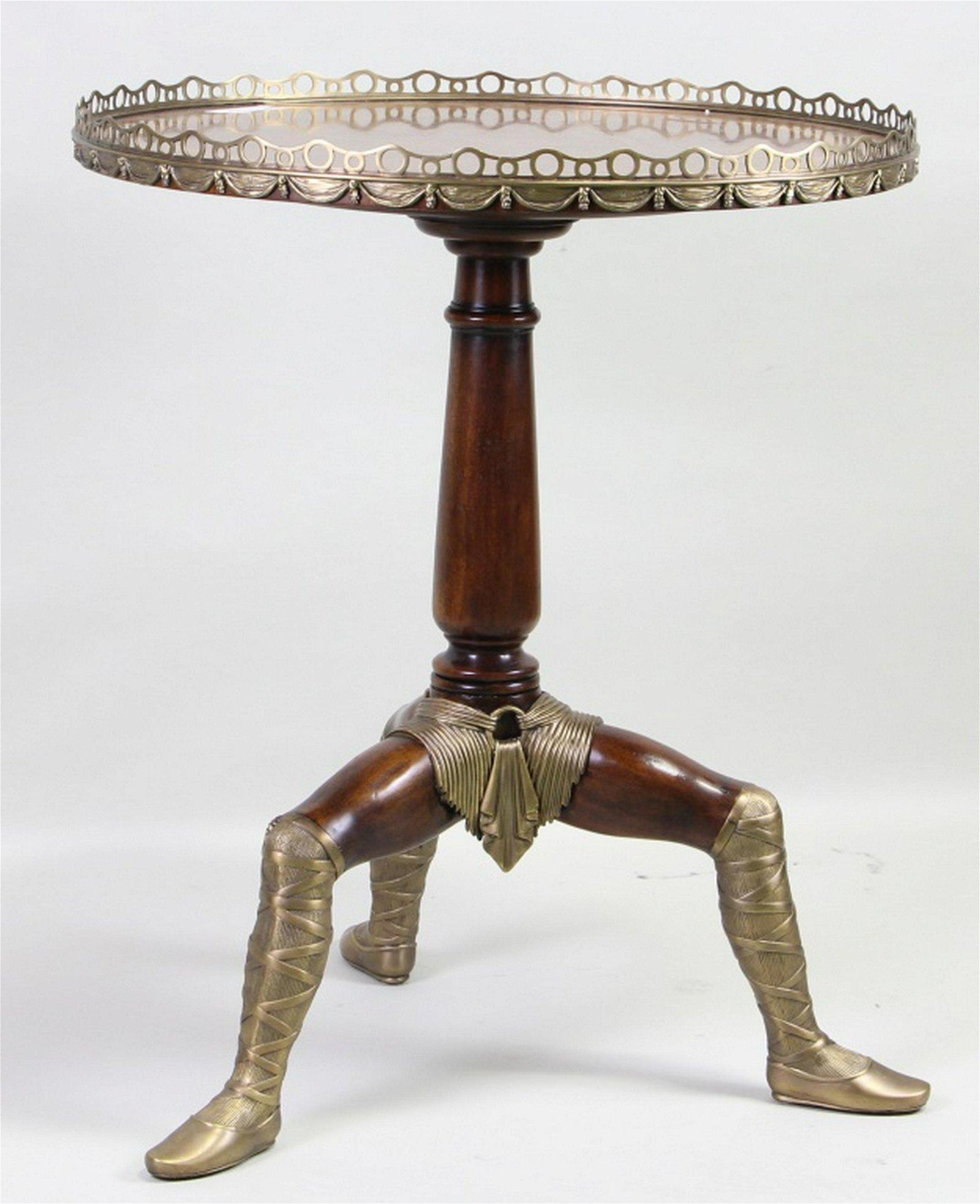 THEODORE ALEXANDER GEORGIAN STYLE TRIPOD TABLE