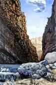 EARL STALEY LANDSCAPE ACRYLIC ON CANVAS
