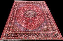 HAND KNOTTED PERSIAN MASHAD RUG