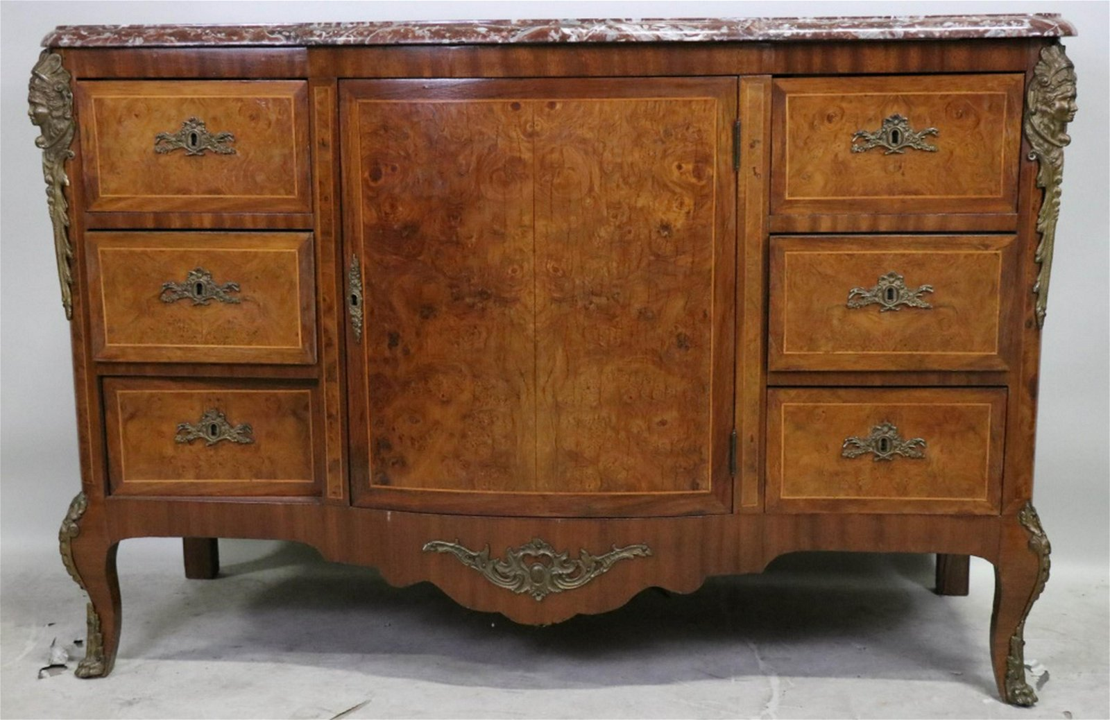 FRENCH STYLE MARBLE TOP COMMODE