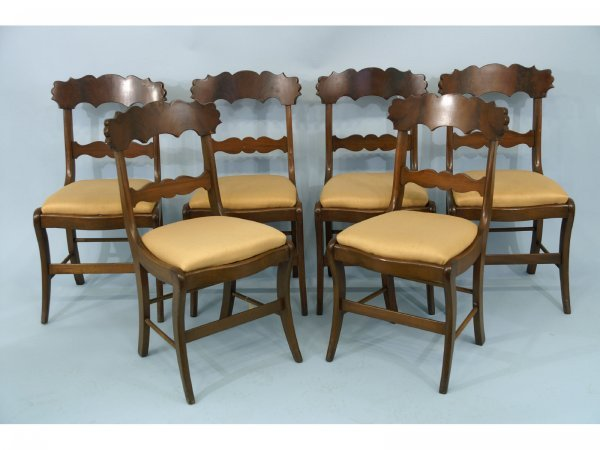 2004: SET OF SIX ENGLISH REGENCY DINING CHAIRS