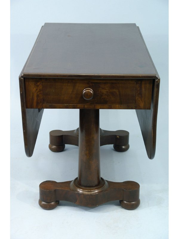 2008: 19TH C. AMERICAN EMPIRE MAHOGANY DROPLEAF TABLE