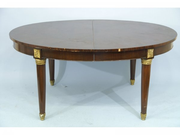 2017: 19TH CENTURY FRENCH WALNUT OVAL DINING TABLE