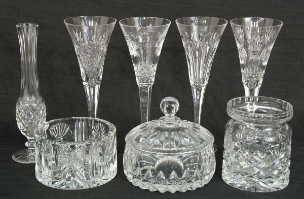 2026: 8-PIECE MIXED LOT OF WATERFORD CRYSTAL