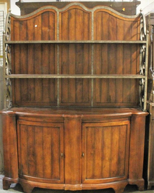 CENTURY COUNTRY FRENCH STYLE CREDENZA AND HUTCH