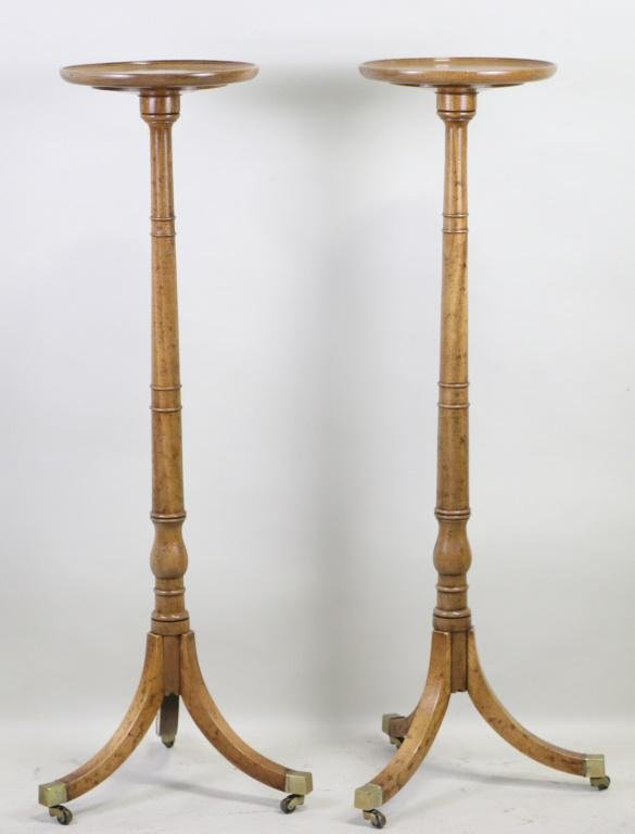 PAIR OF GEORGIAN STYLE STANDS