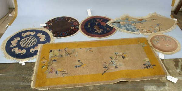 3009: LOT OF 6 CHINESE ART DECO RUGS