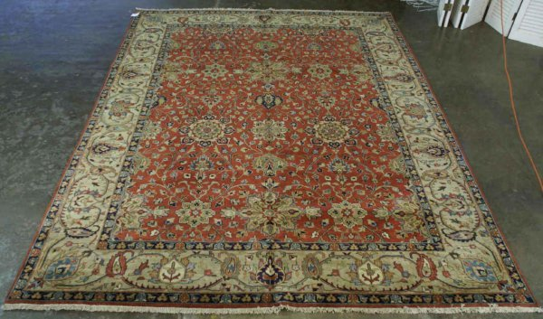 3011: LARGE SULTANABAD HANDMADE WOOL RUG FROM INDIA