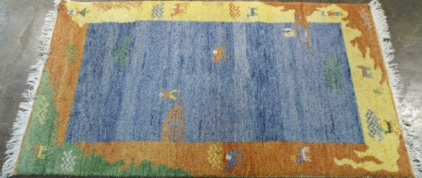 3015: SMALL GABBEH DESIGN  RUG FROM PERSIA