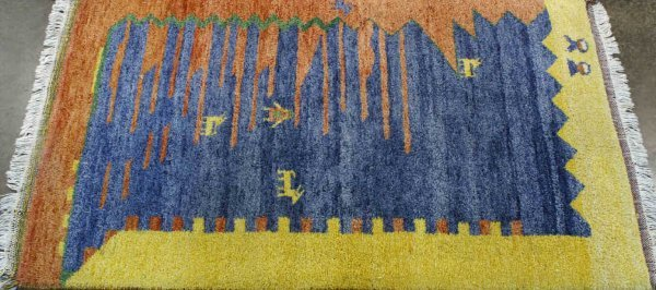 3015A: SMALL GABBEH DESIGN  RUG FROM PERSIA