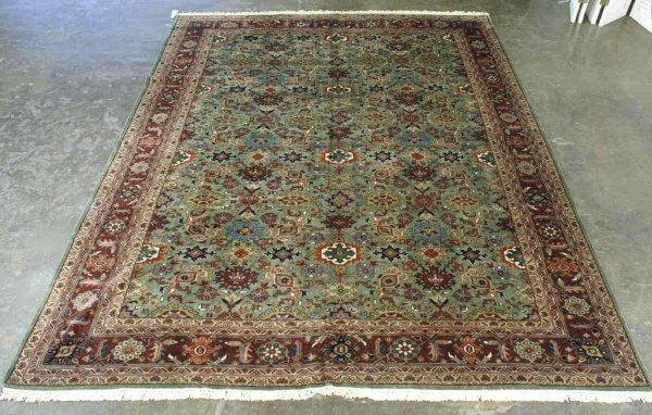 3019: LARGE MAHAL DESIGN HANDMADE RUG FROM INDIA