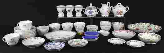 38 PIECE MIXED BOX LOT OF PORCELAIN FROM THE