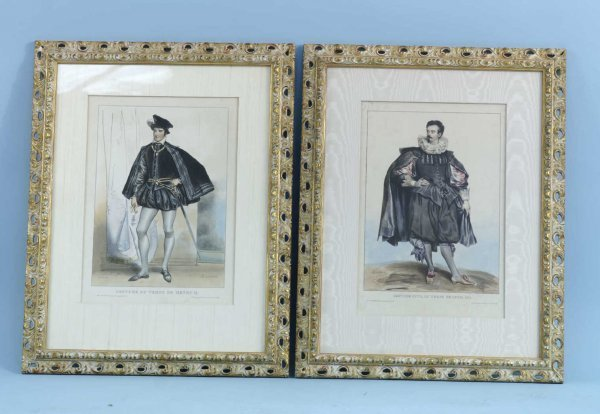 """19: PAIR OF PENCIL DRAWINGS SIGNED """"A. DEVERUE"""""""
