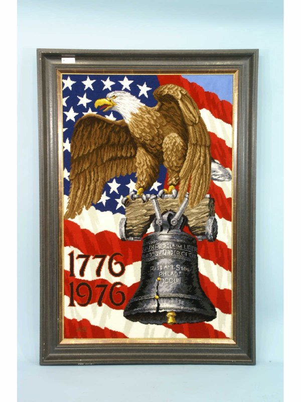 2001: FRAMED TAPESTRY OF AMERICAN EAGLE