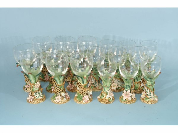 2005: BOX LOT OF PORCELAIN AND GLASS GOBLETS