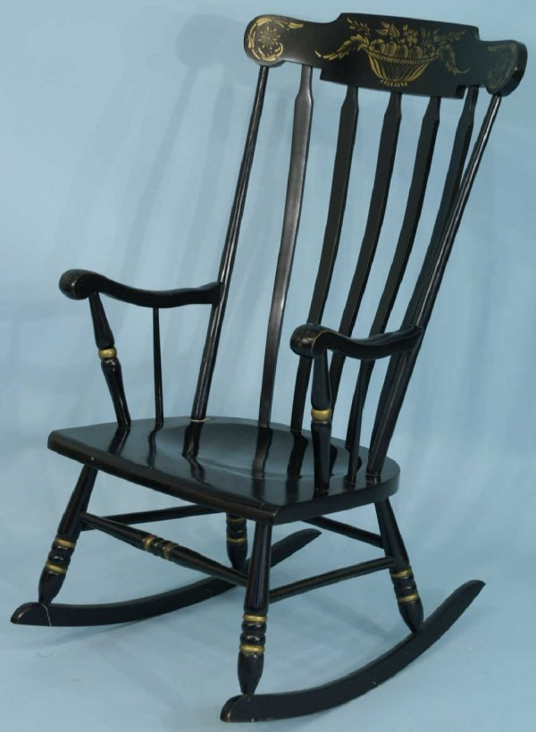 18: PAINTED ROCKING CHAIR