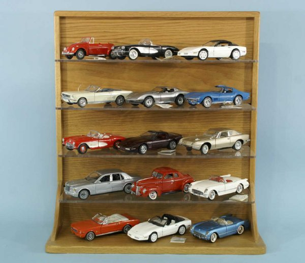1004: BOX LOT OF FRANKLIN MINT MINIATURE CAR COLLECTION