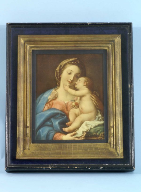 2002: ARCHITECTURALLY FRAMED PRINT OF MADONNA AND CHILD