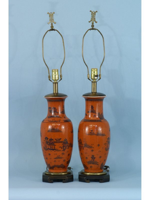 2005: PAIR OF CHINESE STYLE LAMPS