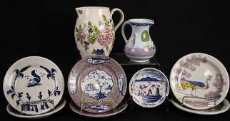 MIXED LOT OF EIGHT DECORATIVE PORCELAIN PIECES