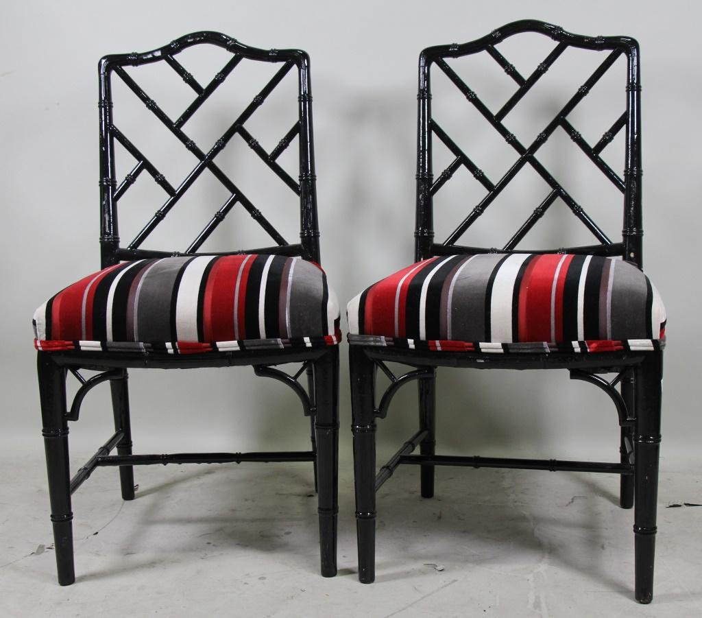 SET OF FIVE CHINESE CHIPPENDALE STYLE CHAIRS