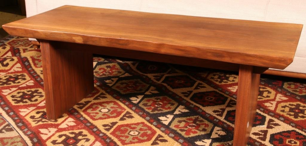 NATURAL FINISH WOOD PLANK TO COFFEE TABLE