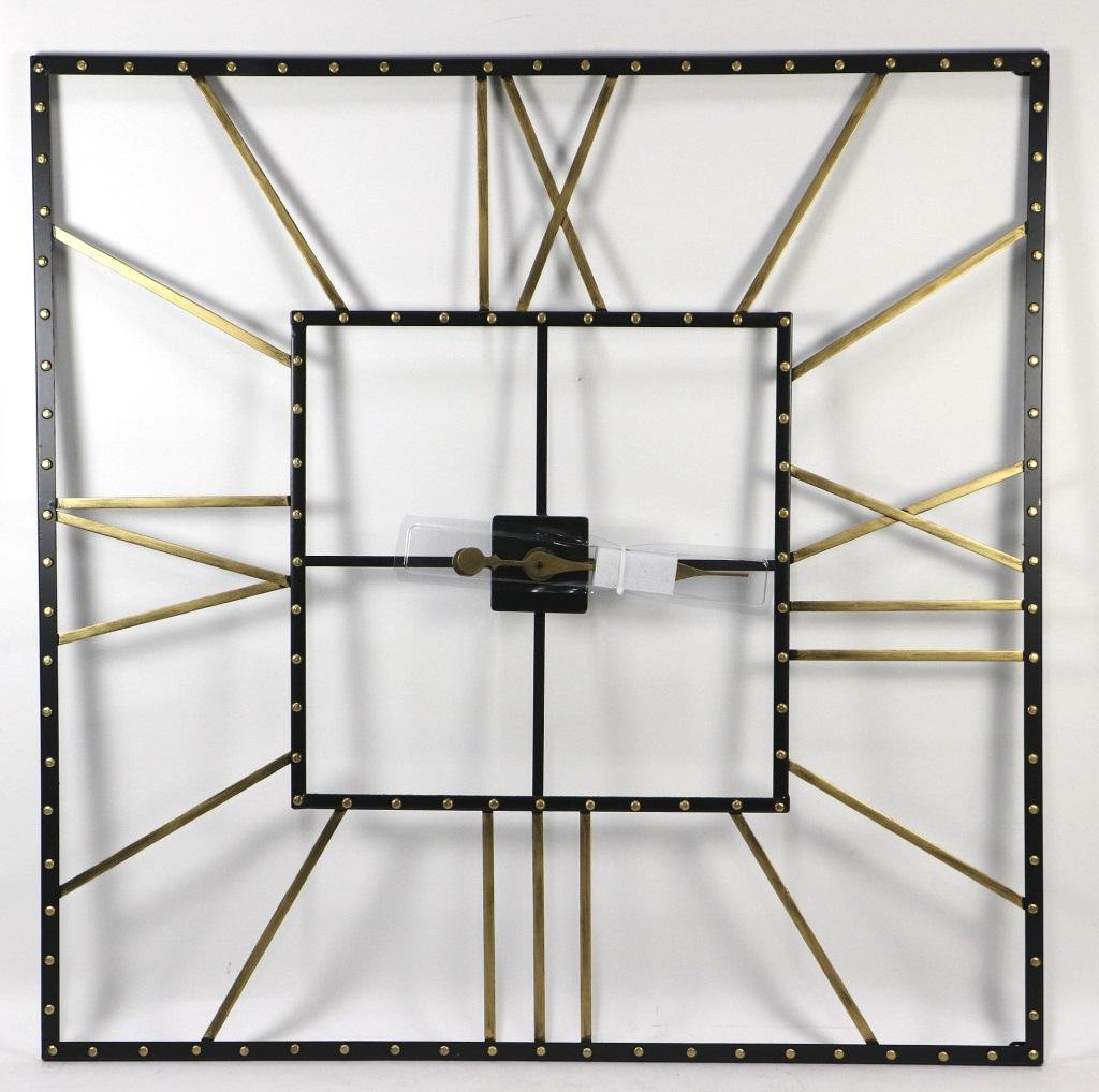 CONTEMPORARY ROMAN NUMBERAL METAL WALL CLOCK